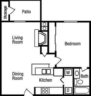 A1 Floorplan at Huntington Park Apartments