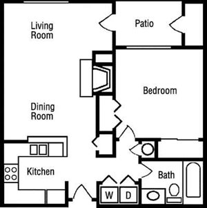 A2 Floorplan at Huntington Park Apartments