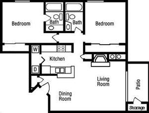 B2 Floorplan at Huntington Park Apartments