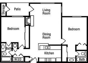 B3 Floorplan at Huntington Park Apartments