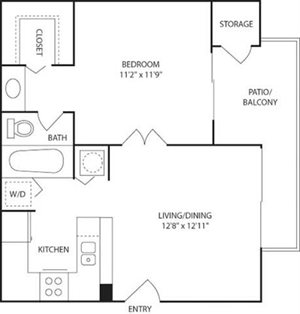 A1 Floorplan at Kings Colony