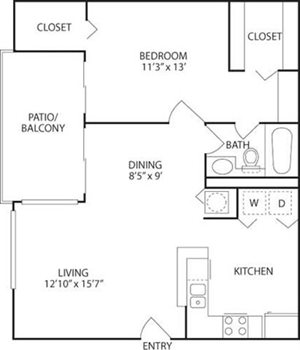 A3 Floorplan at Kings Colony