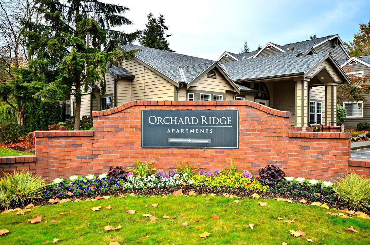 Signage at Orchard Ridge Apartments, Washington