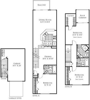 The Capri Floorplan at Promenade at Aventura