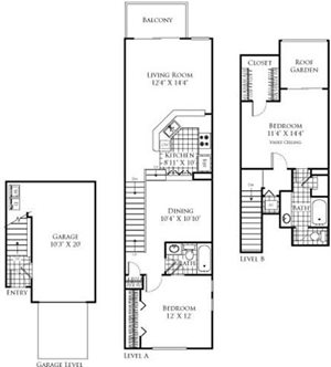 The Marseille Floorplan at Promenade at Aventura