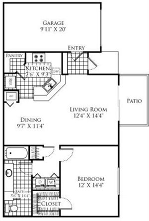 The Monticello Floorplan at Promenade at Aventura
