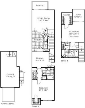 The Portofino Floorplan at Promenade at Aventura