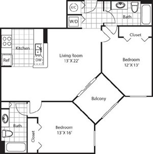 Alhambra Floorplan at Red Road Commons