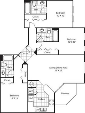Anastasia Floorplan at Red Road Commons