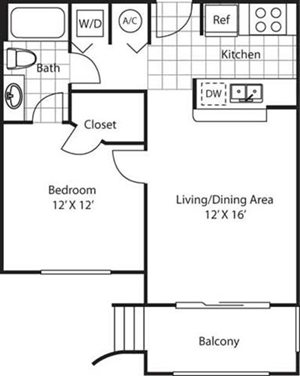 Biltmore Floorplan at Red Road Commons