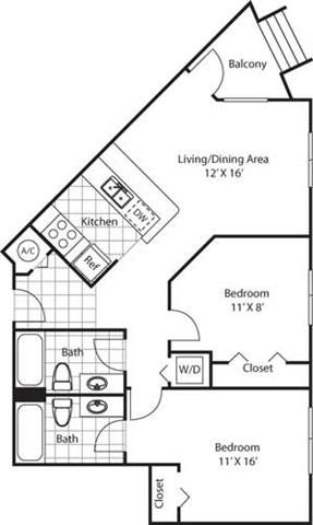 Broadview Floorplan at Red Road Commons