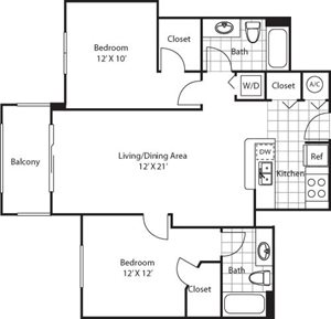 Flamingo Floorplan at Red Road Commons
