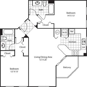 Hibiscus Floorplan at Red Road Commons