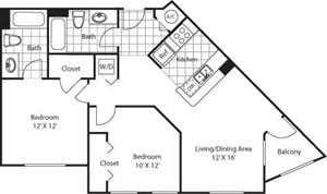 Merrick Floorplan at Red Road Commons