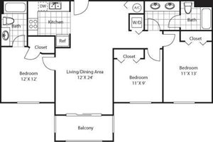 San Remo Floorplan at Red Road Commons