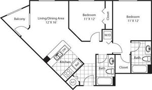 Stanford Floorplan at Red Road Commons