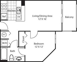Villa Bella Floorplan at Red Road Commons