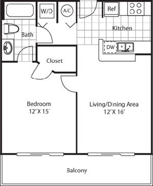 Flagler Floorplan at Red Road Commons