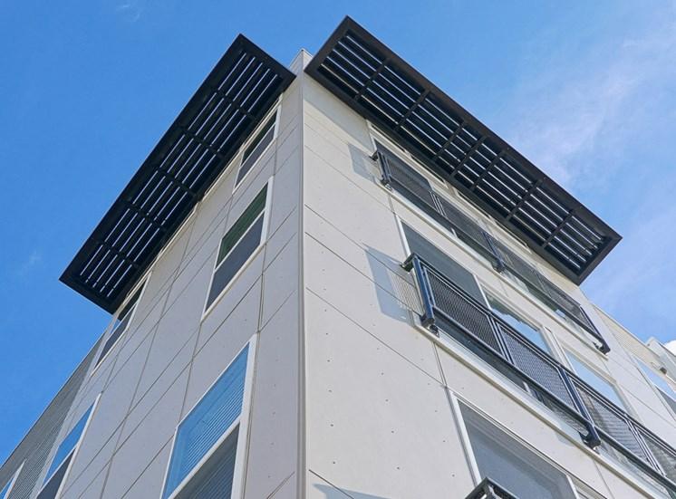 Exterior of the Venture Apartments iN Tech Center in Newport News VA