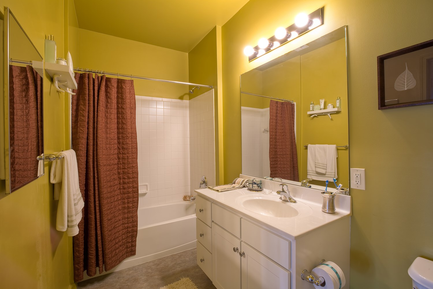 Bathroom at Enclave at Charles Pond Apartments in Coram, NY