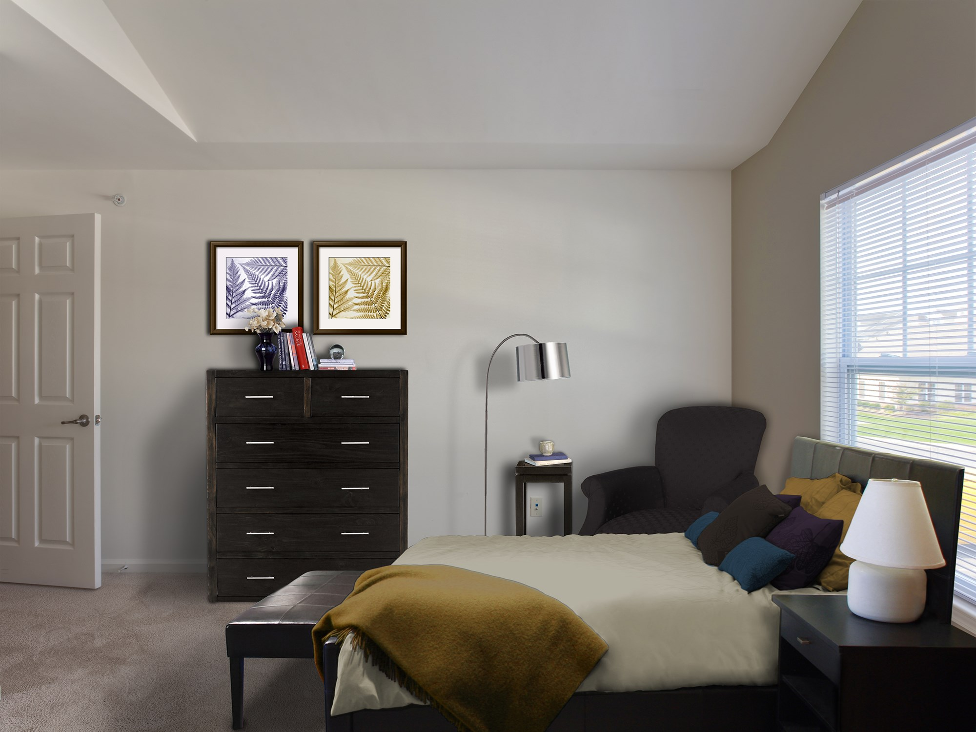 Bedroom at Enclave at Charles Pond Apartments in Coram, NY