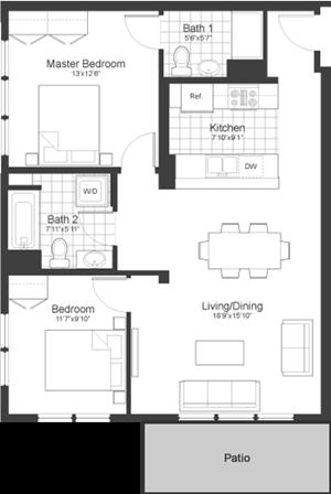 Floor Plan at Park87, Cambridge, 02138