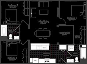 Floor Plan at Park87, Cambridge
