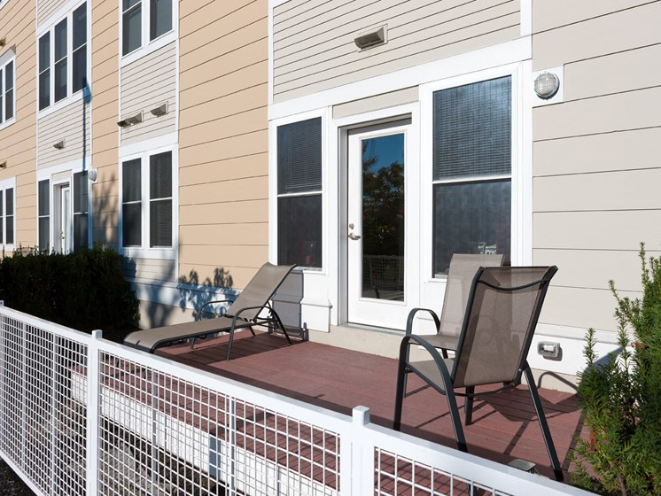 Private Patio/Balcony at Park87, Cambridge, MA 02138