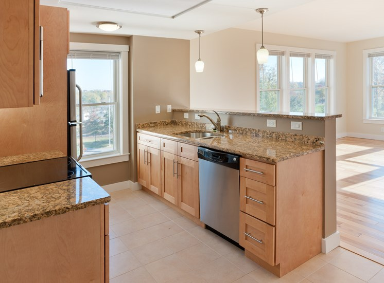 Designer Granite Countertops at Park87, Massachusetts