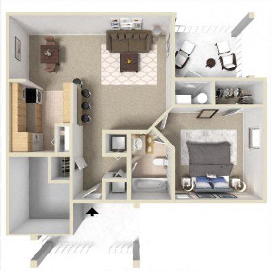 Rosemont III Floor Plan at Ashton Creek Apartments in Chester VA