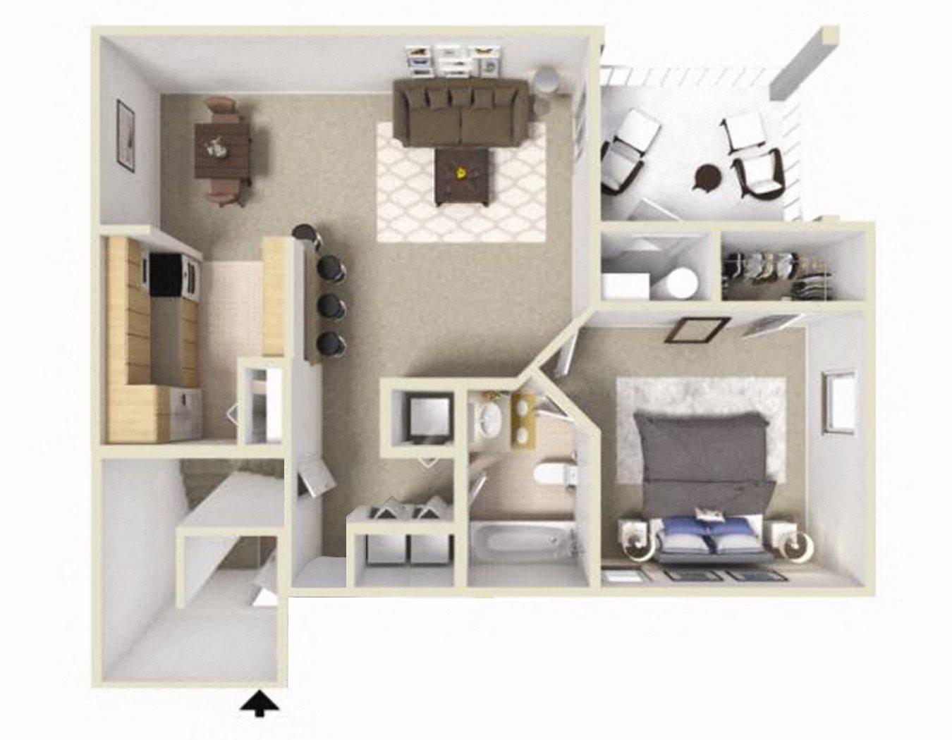 Rosemont II Floor Plan at Ashton Creek Apartments in Chester VA