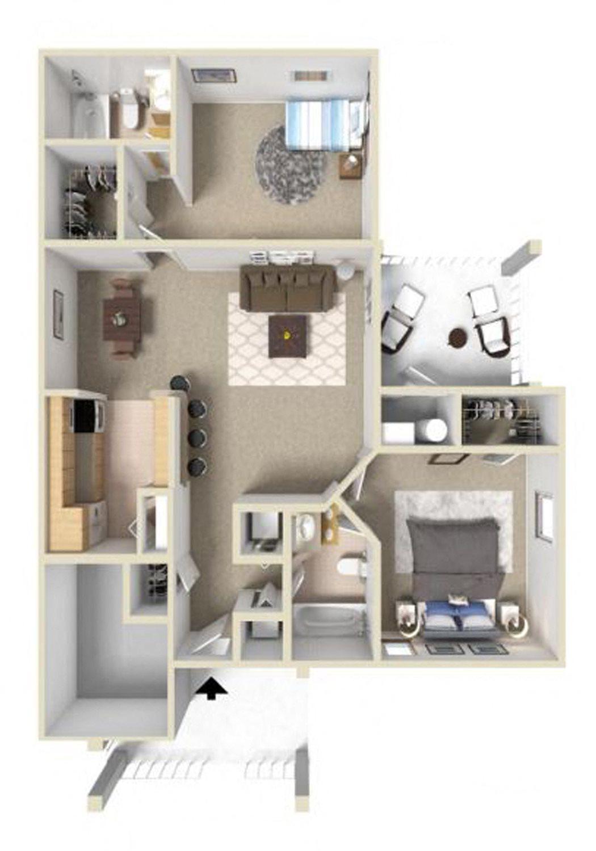 Fairmont III Floor Plan at Ashton Creek Apartments in Chester VA