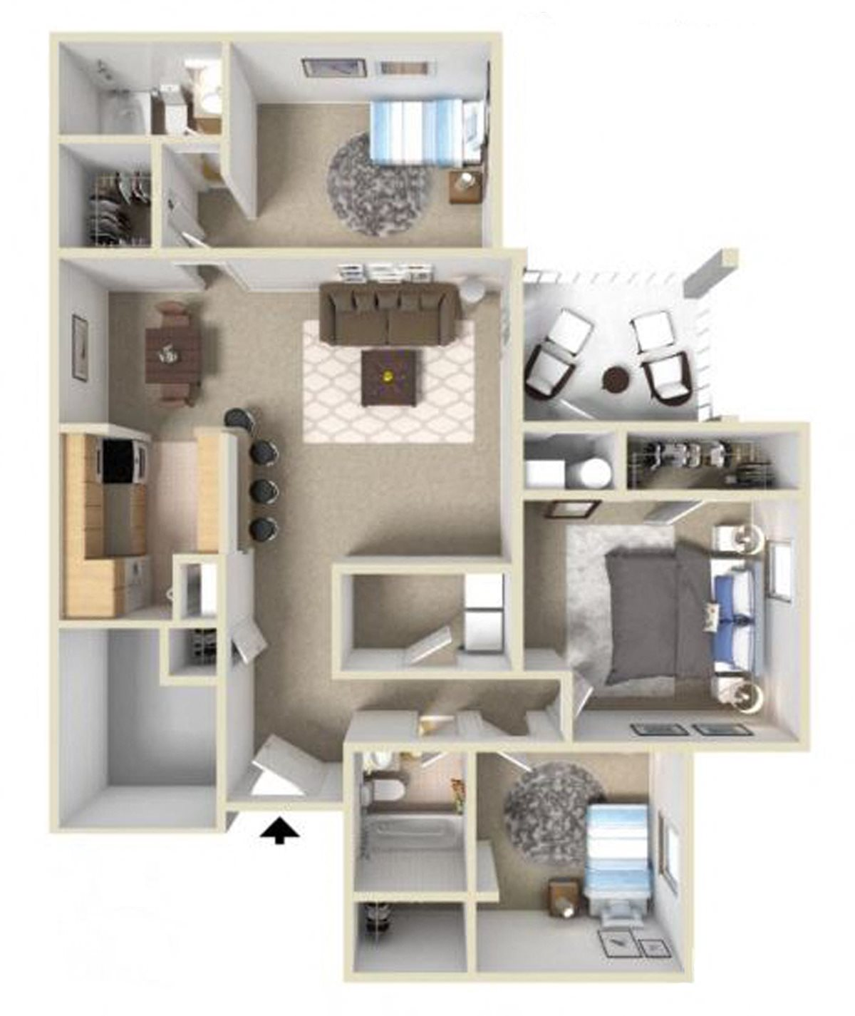 Westover III Floor Plan at Ashton Creek Apartments in Chester VA