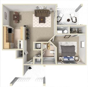 Rosemont I Floor Plan at Ashton Creek Apartments in Chester VA