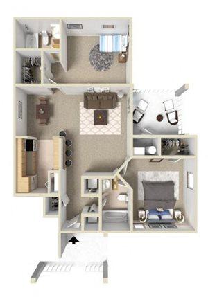 Fairmont I Floor Plan at Ashton Creek Apartments in Chester VA