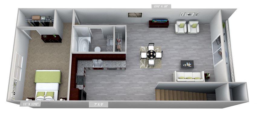 Columbia Gardens 1 Bedroom
