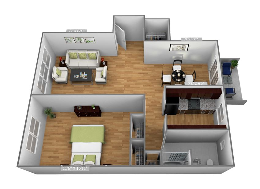 Large 1 Bedroom - 1 Bath