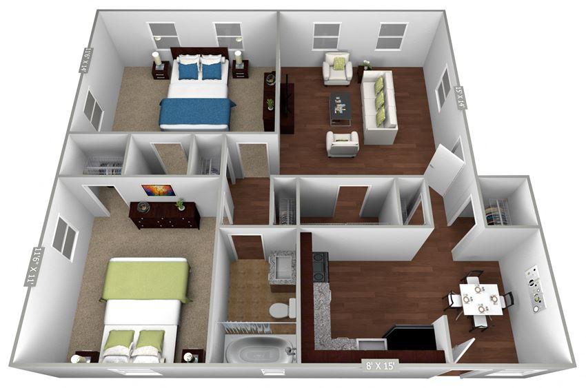 Park Row 2 Bedroom