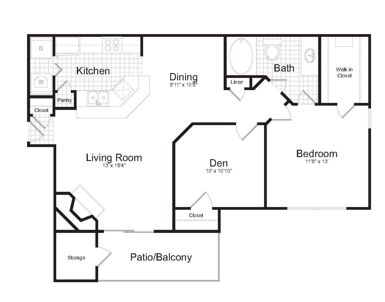 One Bedroom | One Bathroom