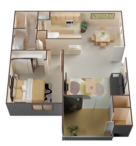 1 Bed Renovated Floor Plan 1