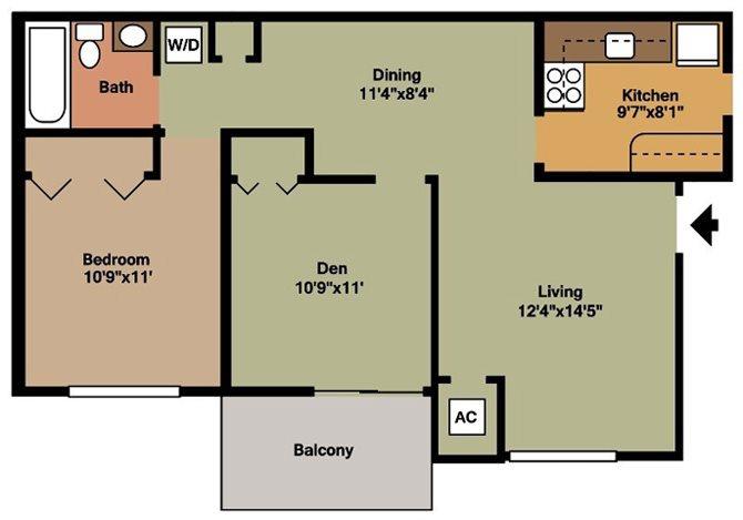 Style AA Floor Plan 2