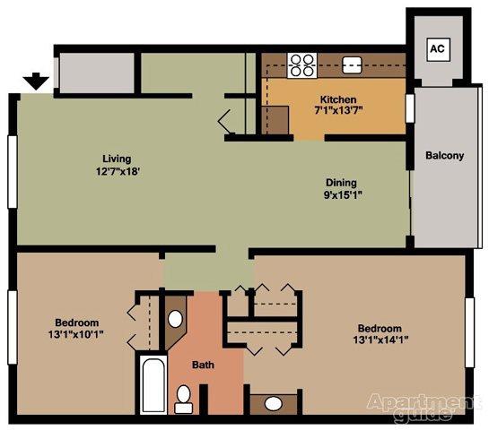 Style C Floor Plan 4