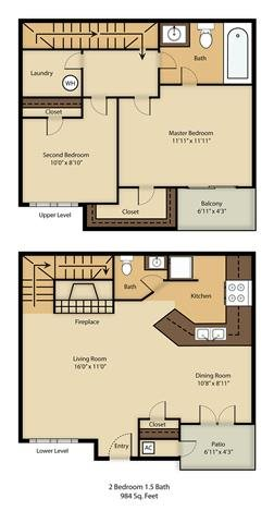 B2 Townhome Floor Plan 7