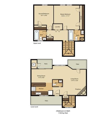 B3 Townhome Floor Plan 8
