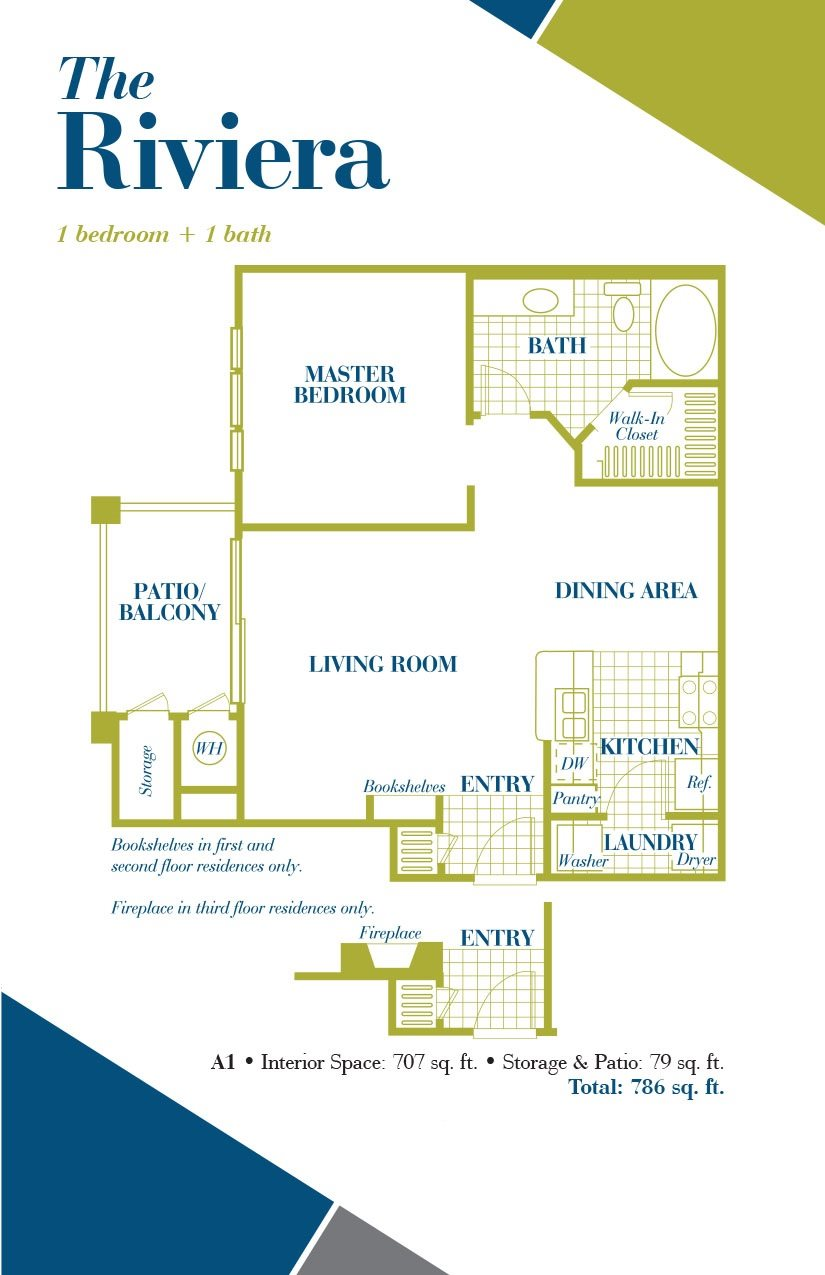 The Riviera Floor Plan 1