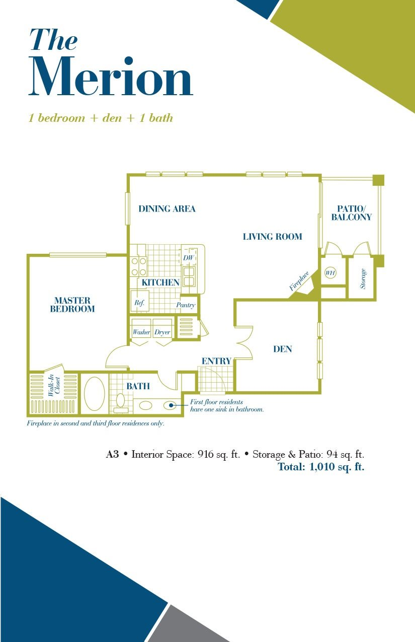 The Merion Floor Plan 3