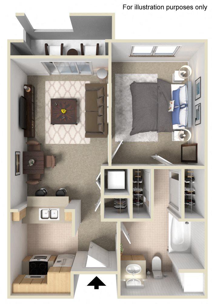 Floor Plans | 1 and 2 Bedroom Apartments in Pasadena, CA