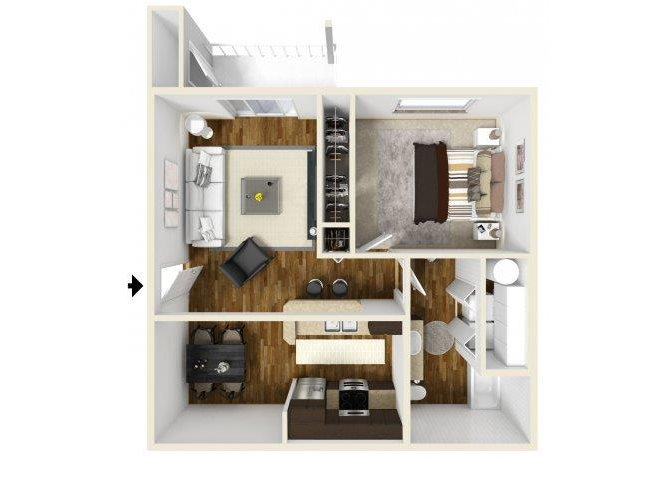 One Two Amp Three Bedroom Apartments In Kent Wa Layouts