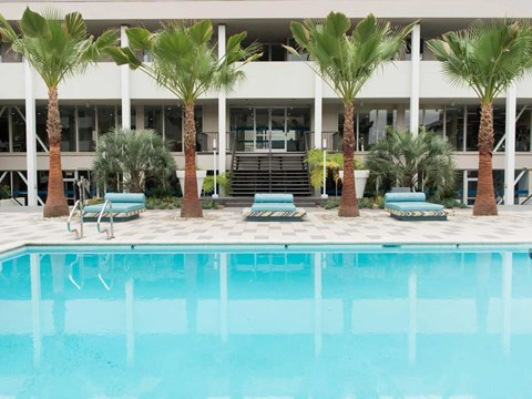 Luxury Apartments for Rent in Koreatown, CA - The Chadwick Apartment Homes Resort Style Swimming Pool