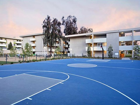 Apartments for Rent in Koreatown, CA - The Chadwick Apartment Homes Basketball Court